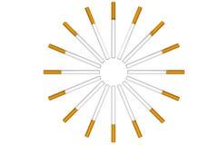 Cigarettes as circle Royalty Free Stock Photo