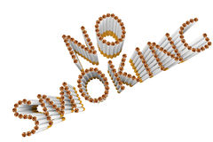 Cigarettes as No Smoking word Royalty Free Stock Image