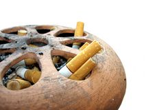 Cigarettes in Ash Tray Stock Images