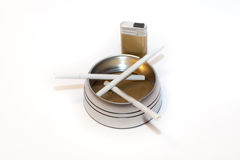 Cigarettes in ashtray Royalty Free Stock Photography