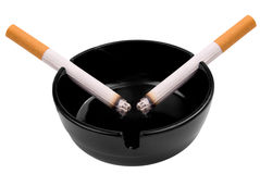 Cigarettes in ashtray Royalty Free Stock Image