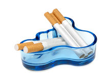 Cigarettes and  ashtray Royalty Free Stock Image
