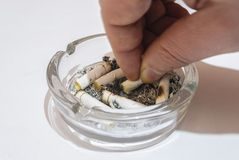 Cigarettes in ashtray. Royalty Free Stock Photo