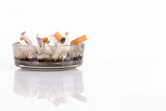 Cigarettes in an ashtray Royalty Free Stock Photography