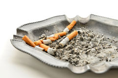 Cigarettes and ashtray Stock Image