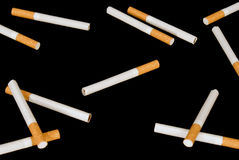 Cigarettes on a black background Royalty Free Stock Photo