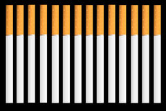 Cigarettes on black background Royalty Free Stock Photo