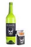 Cigarettes box and bottle Stock Image