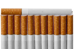 Cigarettes with a brown filter Royalty Free Stock Photo