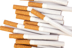 Cigarettes with brown filter Stock Image