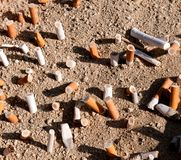 Cigarettes butts Royalty Free Stock Photo