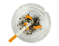 Cigarettes butts in ashtray Stock Photo