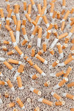 Cigarettes chaos from above Stock Image