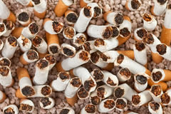 Cigarettes chaos closeup Stock Photo