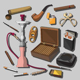 Cigarettes, Cigars and Smoking Accessories Stock Photos