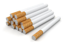 Cigarettes (clipping path included) Stock Image