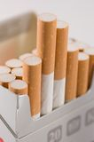 Cigarettes close up Royalty Free Stock Images