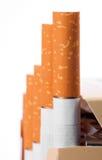 Cigarettes close up in the box Stock Photo