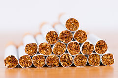 Cigarettes closeup Stock Photography