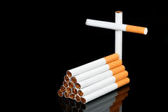 Cigarettes coffin Royalty Free Stock Image