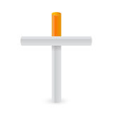 Cigarettes cross. Smoking kills metaphor Royalty Free Stock Images