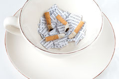Cigarettes, DNA and coffee Stock Images