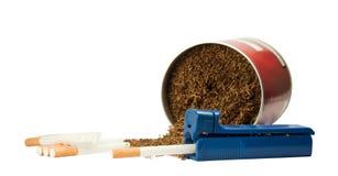 Cigarettes et tabac Photographie stock libre de droits