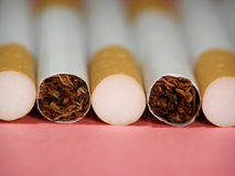 Cigarettes with filter Stock Photography