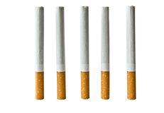 The Cigarettes with filter. Royalty Free Stock Photo