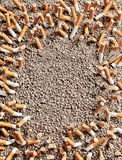 Cigarettes frame Stock Photos