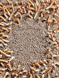 Cigarettes frame Stock Photos