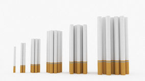 Cigarettes graph Royalty Free Stock Image