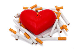 Cigarettes and Heart Stock Images