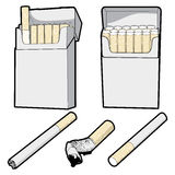 Cigarettes. Here are some vector graphics of cigarettes Royalty Free Stock Photos