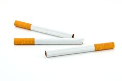 Cigarettes isolated Royalty Free Stock Photography