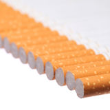 Cigarettes isolated Royalty Free Stock Images