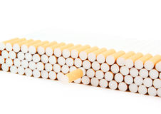 Cigarettes isolated on white Stock Photography