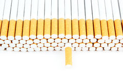 Cigarettes isolated on white Royalty Free Stock Photos