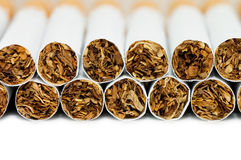 Cigarettes  isolated on white background Royalty Free Stock Photos