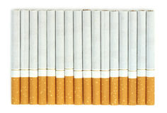Cigarettes isolated on white background Stock Photos