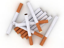Cigarettes isolated on white background Stock Image