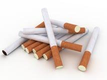 Cigarettes isolated on white background. Cigarettes without labels isolated on white background Royalty Free Stock Images
