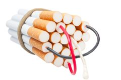 Cigarettes kill. Stop smoking Royalty Free Stock Images