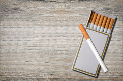 Cigarettes in match box Royalty Free Stock Photos