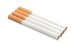 Cigarettes with nicotine, tar and tobacco Stock Photo