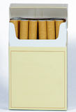 CIGARETTES pack blank. CIGARETTES pack that describes the death Stock Photography