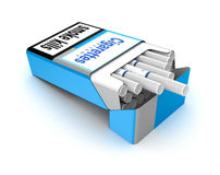 Cigarettes pack 3D illustration. Isolated over white Royalty Free Stock Image