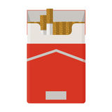 Cigarettes pack. Flat design. Royalty Free Stock Image