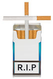 Cigarettes package made as grave Royalty Free Stock Image