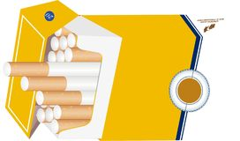 cigarettes in packet Royalty Free Stock Photos